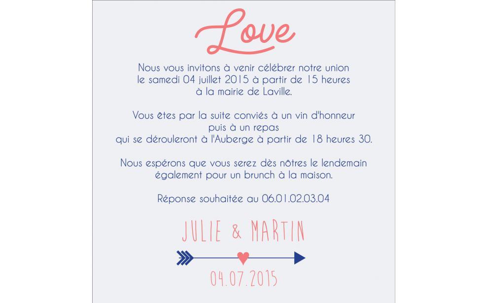 Carte Dinvitation Faire Part Mariage