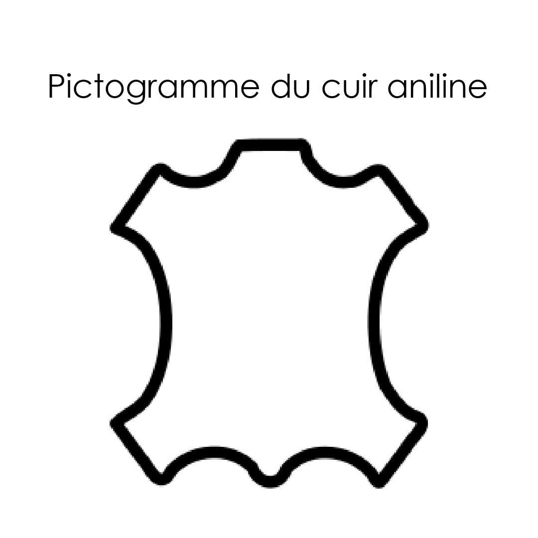 Pictogramme du cuir aniline